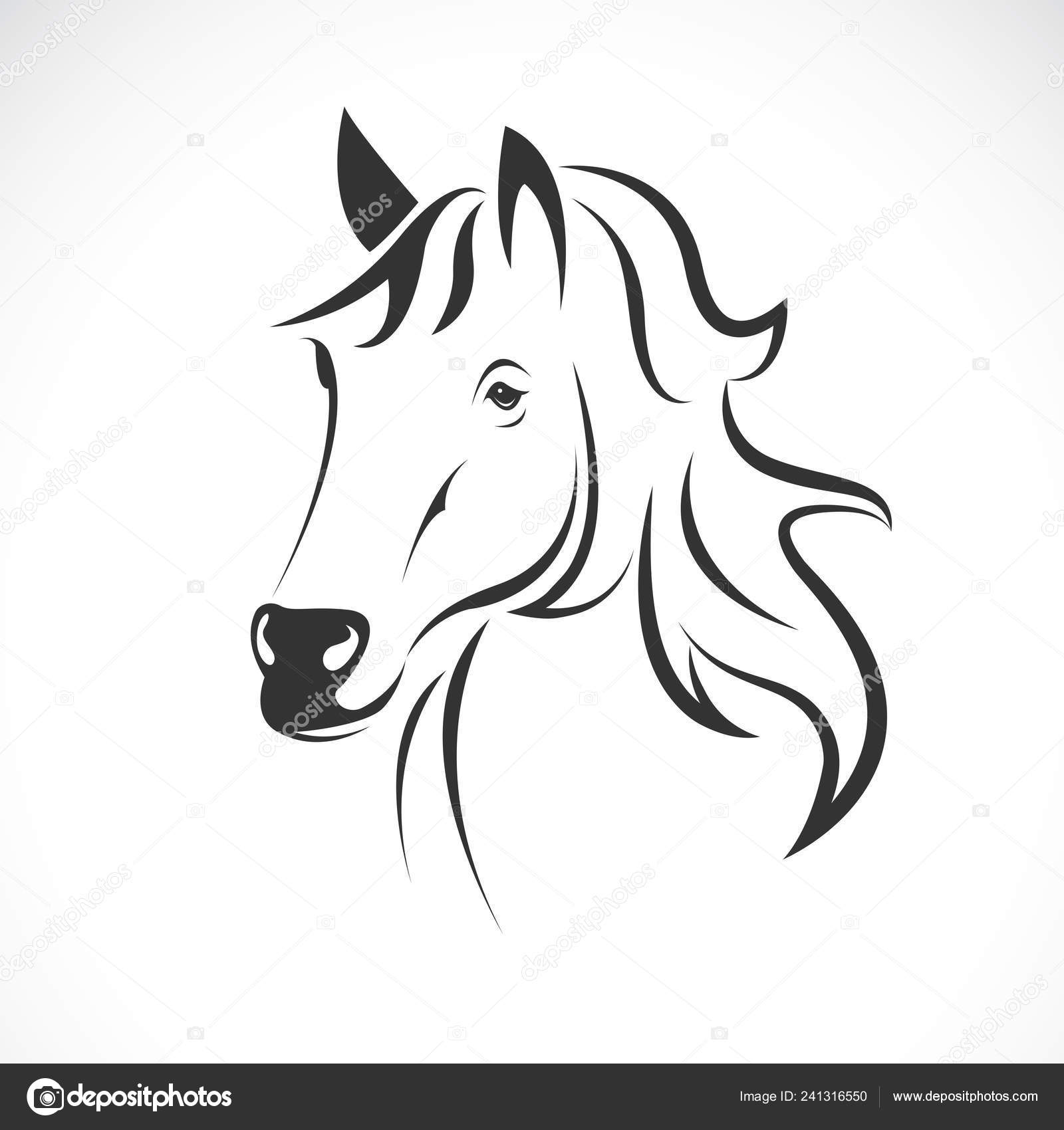 Vector Horse Head Design White Background Wild Animals Easy Editable Stock Vector C Yod67 241316550