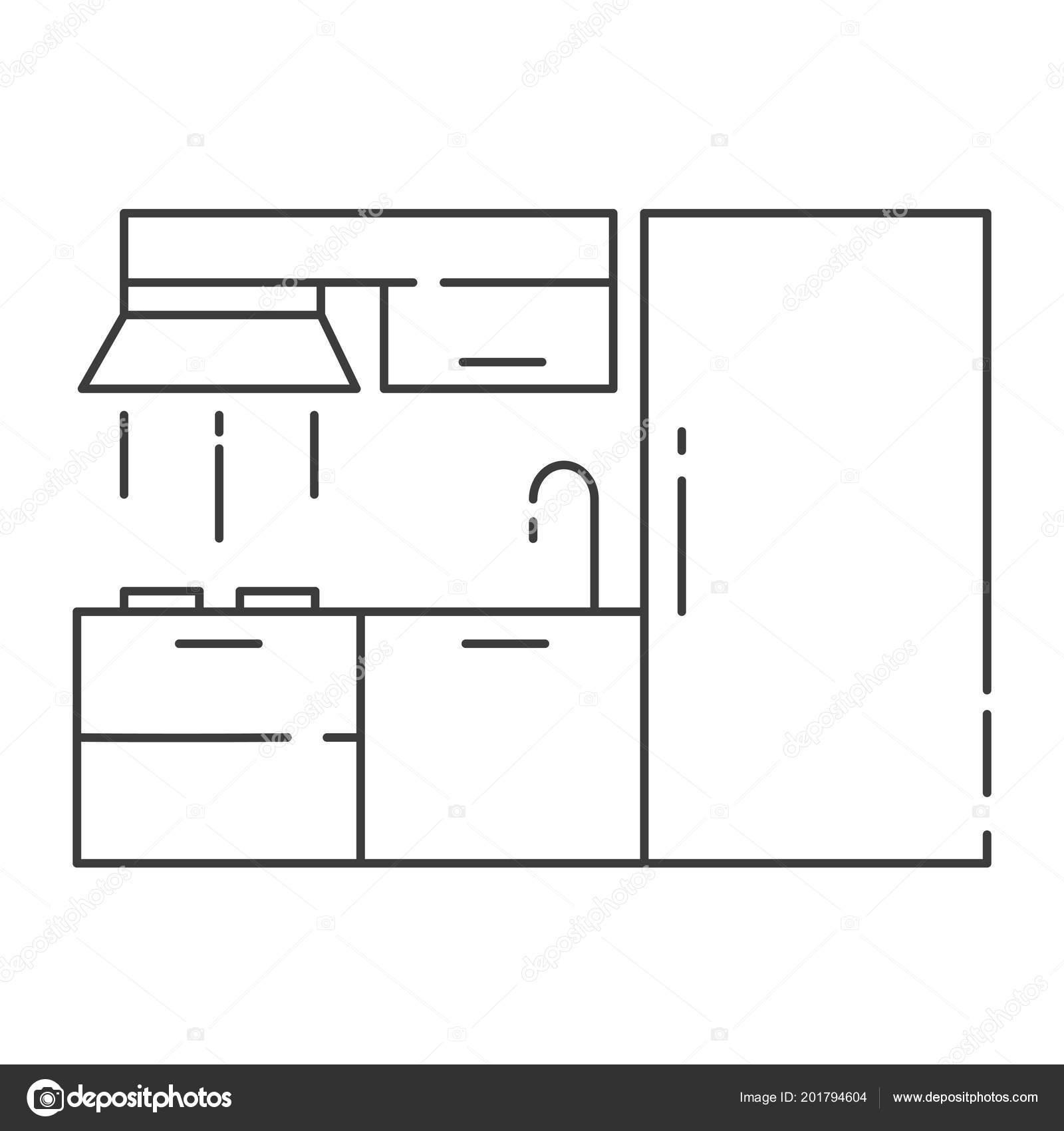 Modern Kitchen Interior Design High Quality Black Outline Logo Web