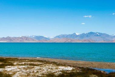 Pamir Mountains, Tajikistan - Karakul Lake in Gorno-Badakhshan, Tajikistan. It is located in the World Heritage Site Tajik National Park (Mountains of the Pamirs).