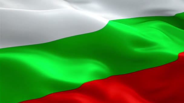 Bulgarian flag waving in wind video footage Full HD. Realistic Bulgarian Flag background. Bulgaria Flag Looping Closeup 1080p Full HD 1920X1080 footage. Bulgaria EU European country flags/ Other flags available - check my profile