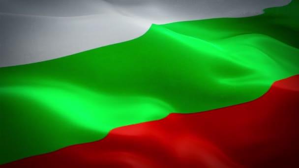 Bulgaria waving flag. National 3d Bulgarian flag waving. Sign of Bulgaria seamless loop animation. Bulgarian flag HD resolution Background. Bulgaria flag Closeup 1080p Full HD video for presentation, film, news