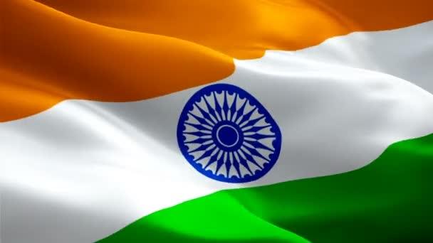 India videó szélben hullámzó zászlaja. Reális indiai zászló háttér. India zászló hurkolás Vértes 1080p Full Hd 1920 x 1080 felvételeket. Delhi India ázsiai ország zászlók felvétel videó film, Hírek