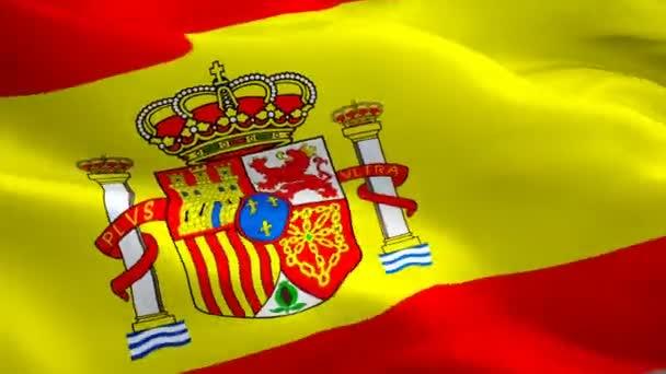 Realista hurkolás a Spanyolország lobogója hullámzó. Nemzeti 3d spanyol zászló integet. Spanyolország varrat nélküli hurok élénkség jele. Spanyol zászló Hd-felbontású hátteret. Spanyolország lobogója 1080p teljes Hd videó bemutató