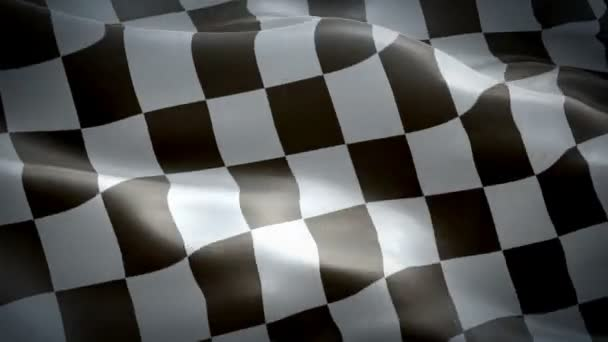 Checkered waving flag. National 3d Racing flag waving. Sign of Finish Checkered seamless loop animation. Racing flag HD resolution Background. Checkered flag Closeup 1080p Full HD video presentation