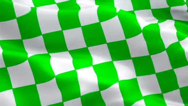 NASCAR End flag Closeup 1080p Full HD 1920X1080 footage video waving in wind. Official Finish Start Race 3d Racing waving flag. Sign of Checkered seamless Loop  Transition. NASCAR flag HD resolution