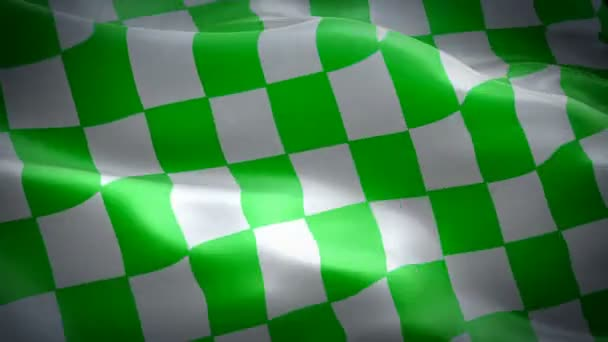 Racing Checkered waving flag. National 3d NASCAR flag waving. Sign of Finish Checkered seamless loop animation. NASCAR flag HD resolution Background. Checkered flag Closeup 1080p Full HD video
