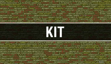 Kit text written on Programming code abstract technology backgro