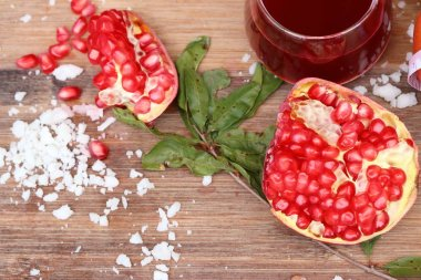 pomegranate fruit with juice