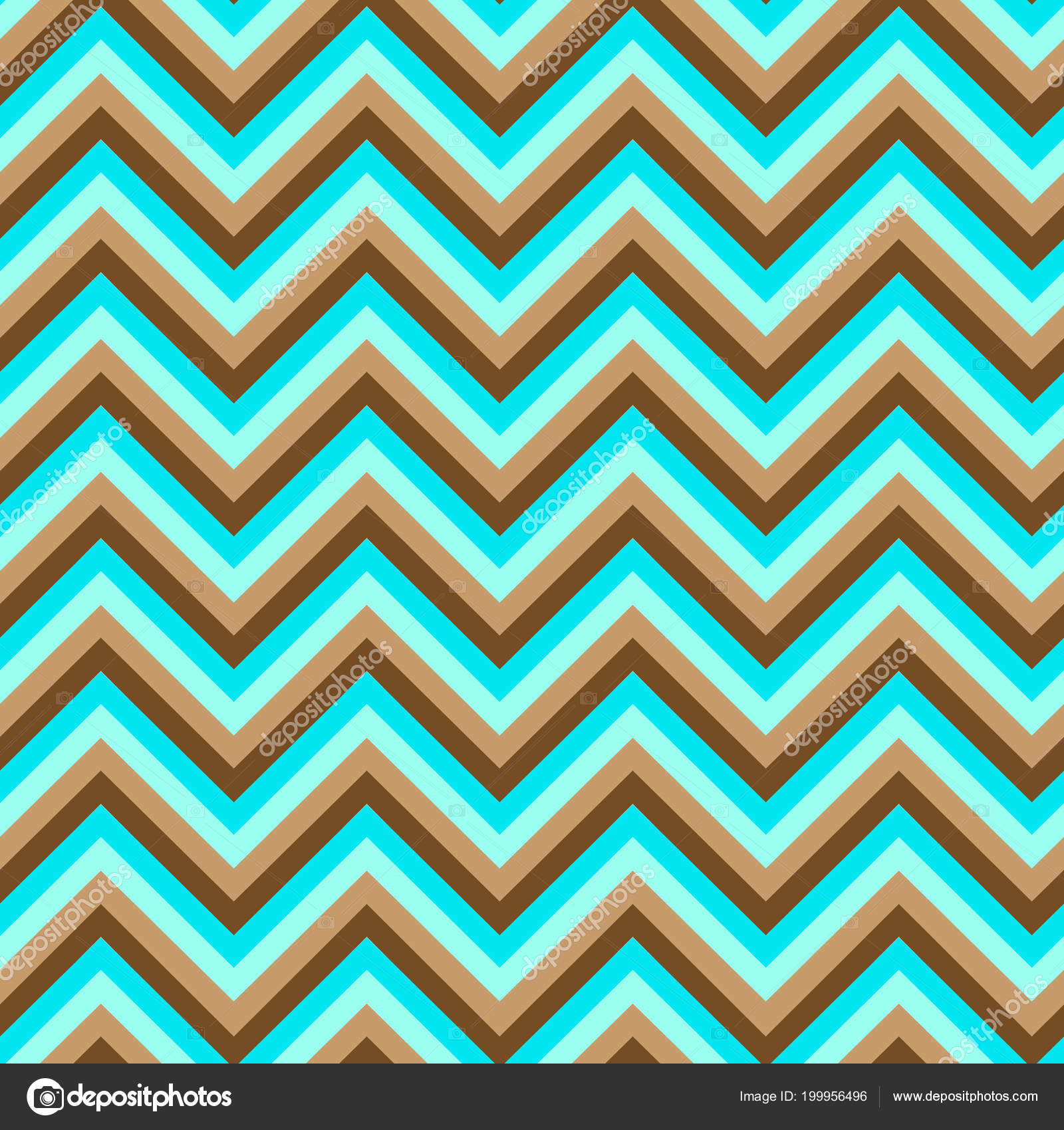 Chevron Blue And Brown Seamless Pattern Vector Vector By N I R V A N A