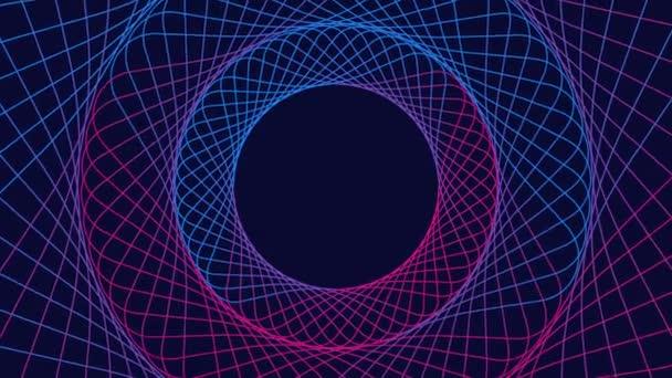 abstraktní pozadí s barevnými dynamickými kruhy