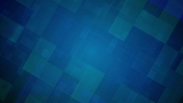 Modré digitální pozadí animace, geometrie design