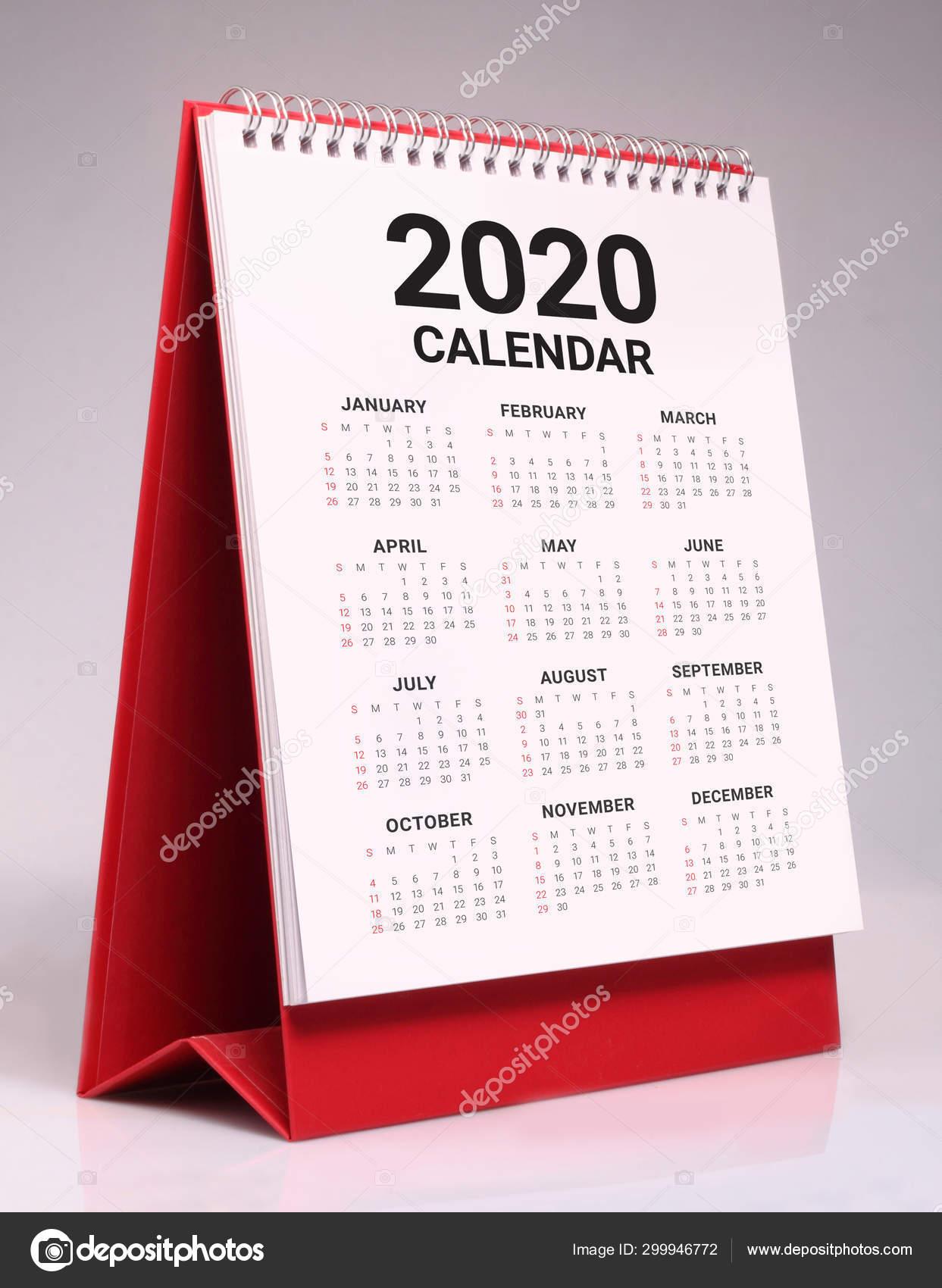 Calendario Da Scrivania 2020.Calendario Da Tavolo Semplice 2020 Foto Stock