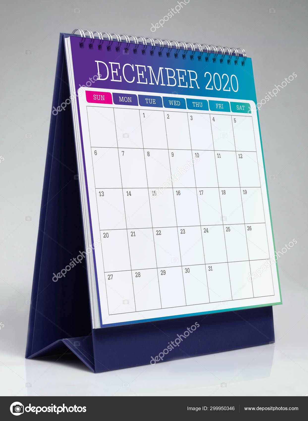 Dicembre Calendario 2020.Calendario Da Tavolo Semplice 2020 Dicembre Foto Stock