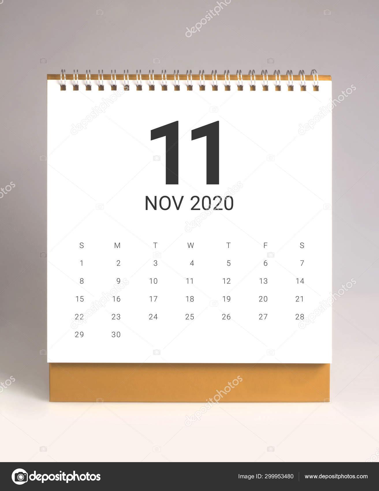 Novembre 2020 Calendario.Calendario Da Tavolo Semplice 2020 Novembre Foto Stock