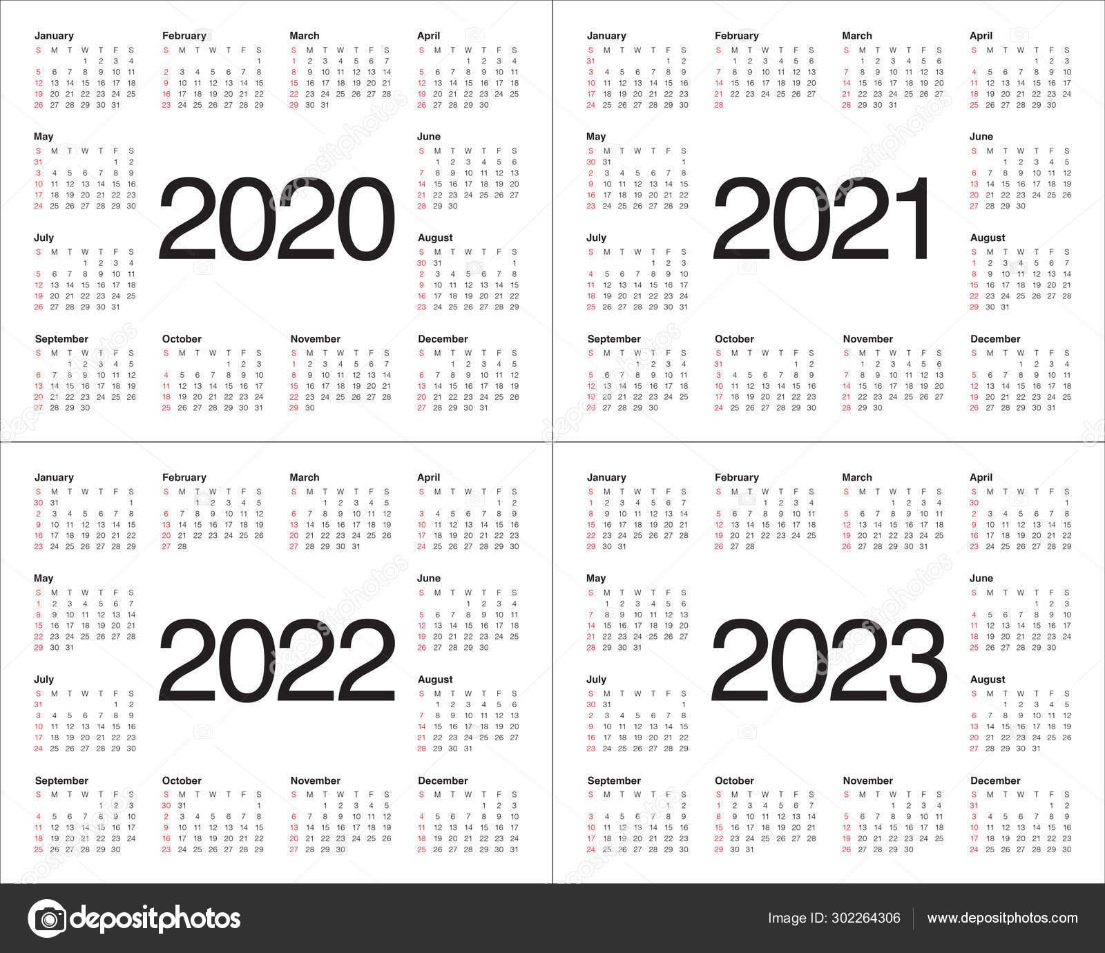 Calendar Template 2022 2023.Year 2020 2021 2022 2023 Calendar Vector Design Template Stock Photo Image By C Dolphfynlow 302264306