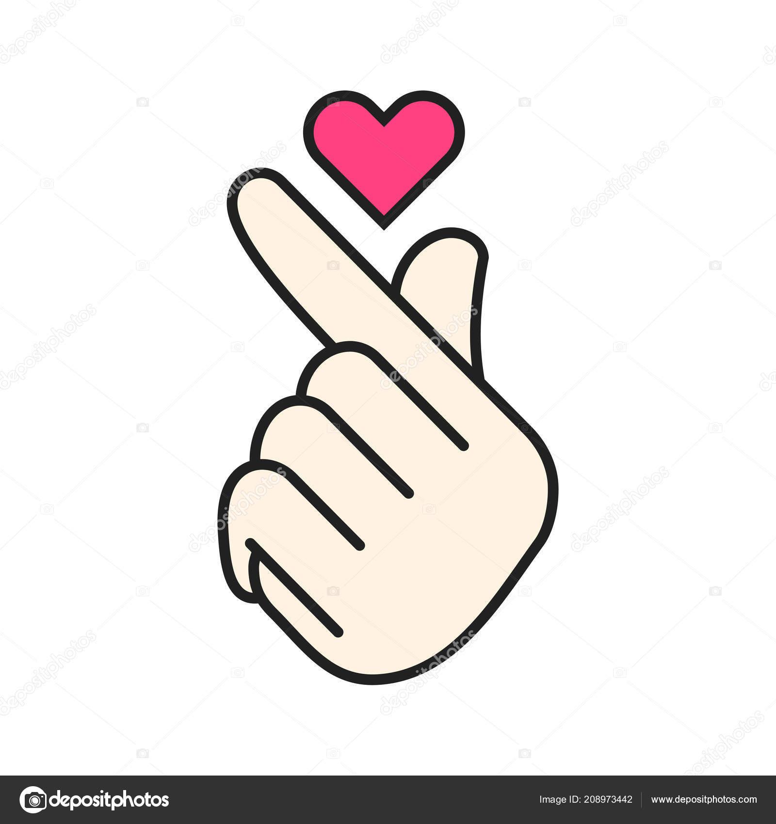 hand hearts korean - HD1024×1024