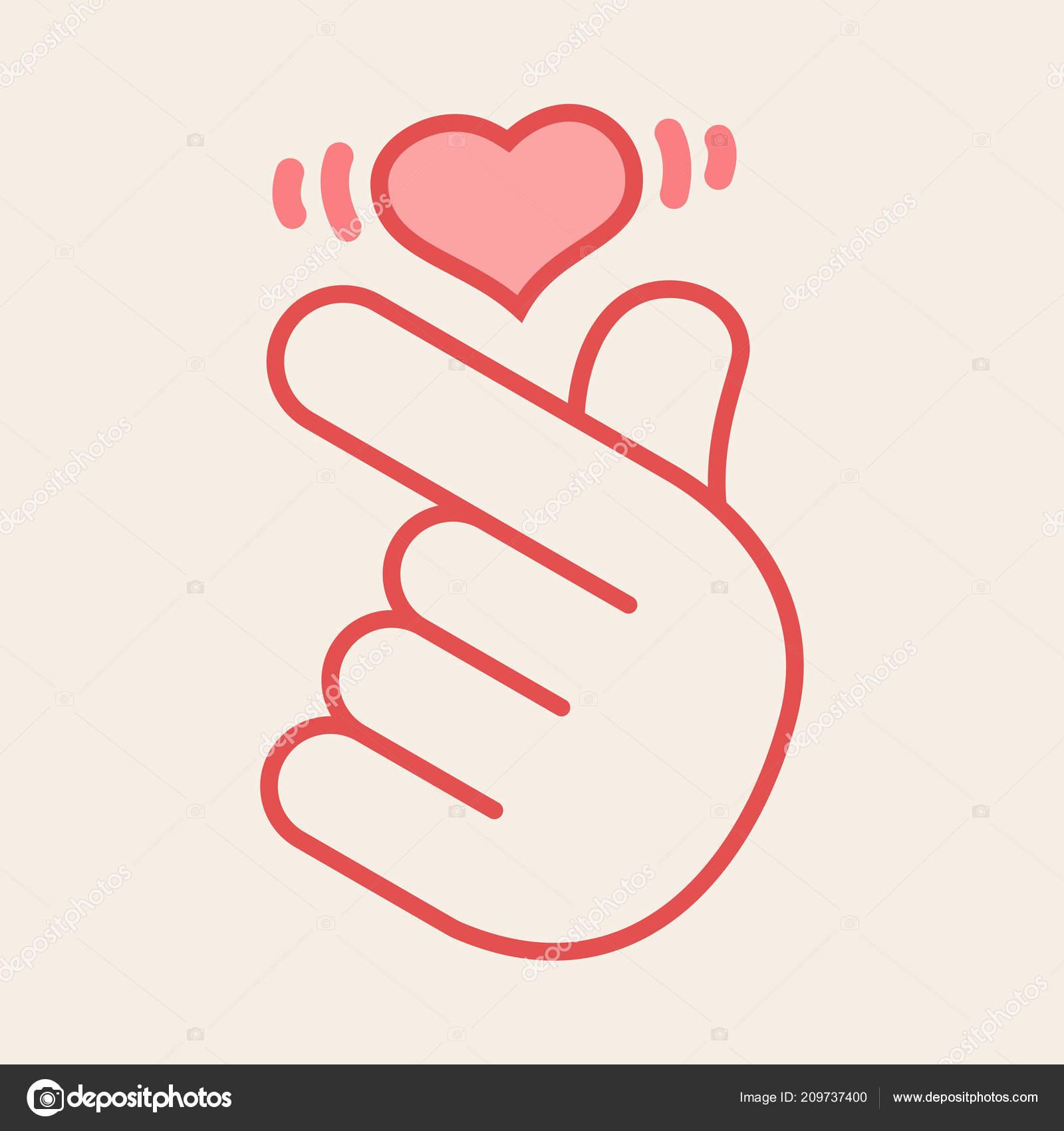 hand hearts korean - 612×612