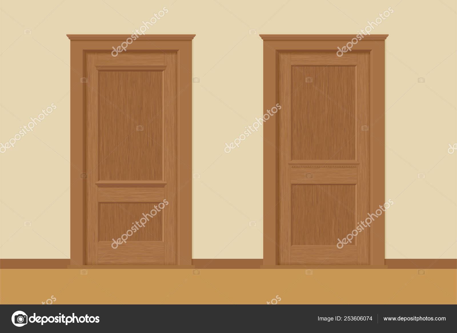 Illustrazione: texture legno porte. Vector texture porte ...