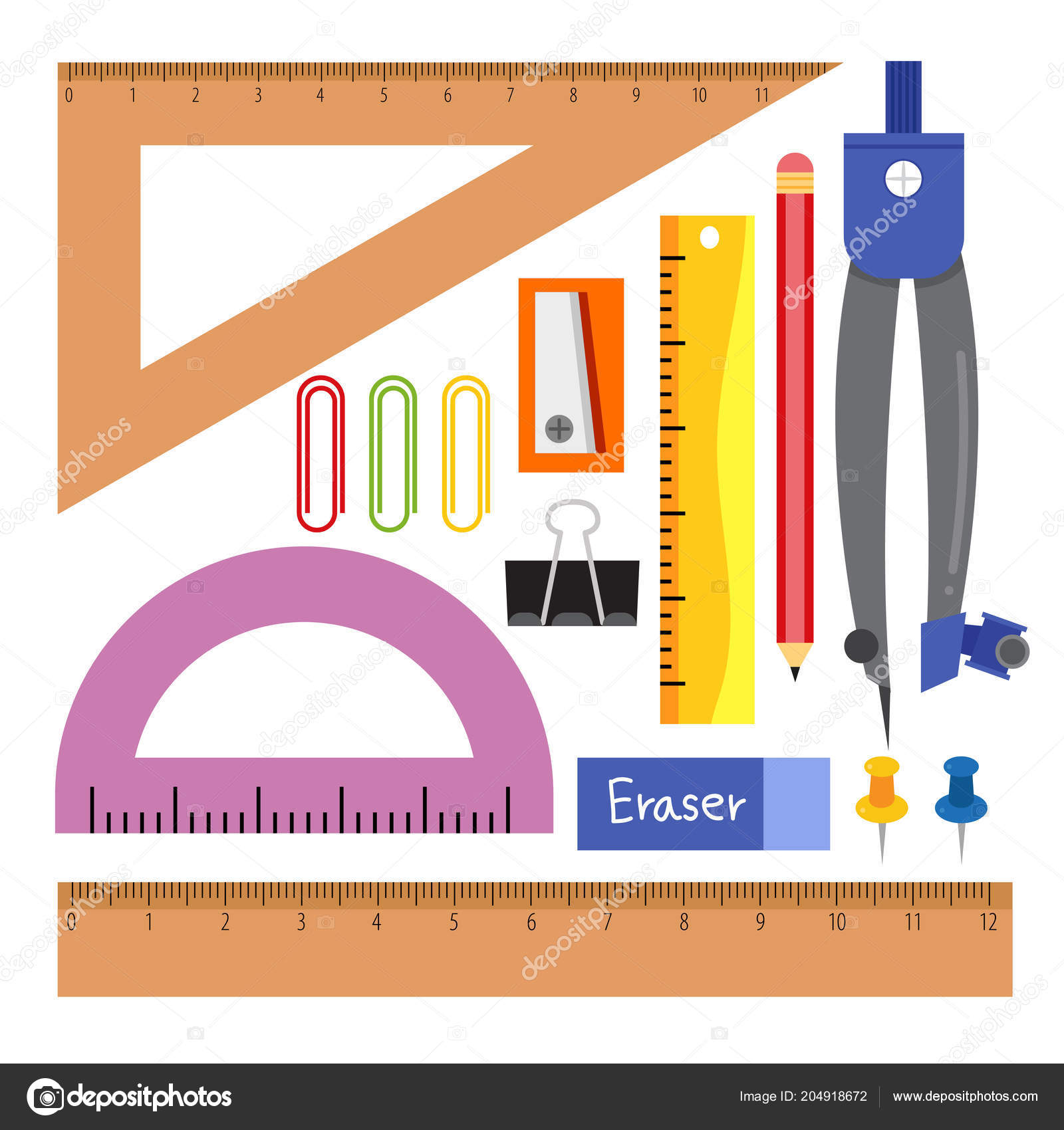 stationary vector collection design stationery vector collection