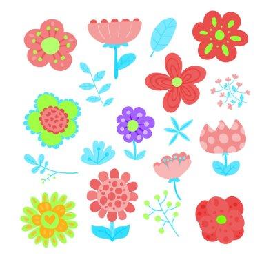 "Картина, постер, плакат, фотообои ""flower vector collection design, floral vector collection design"", артикул 217545904"