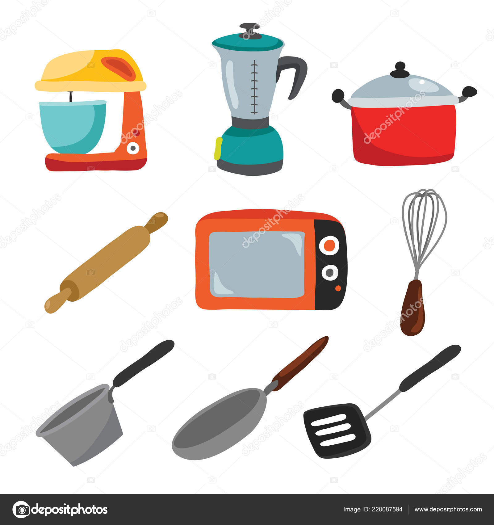 Utensilios Cocina Vector Colección Diseño Diseño Colección ...