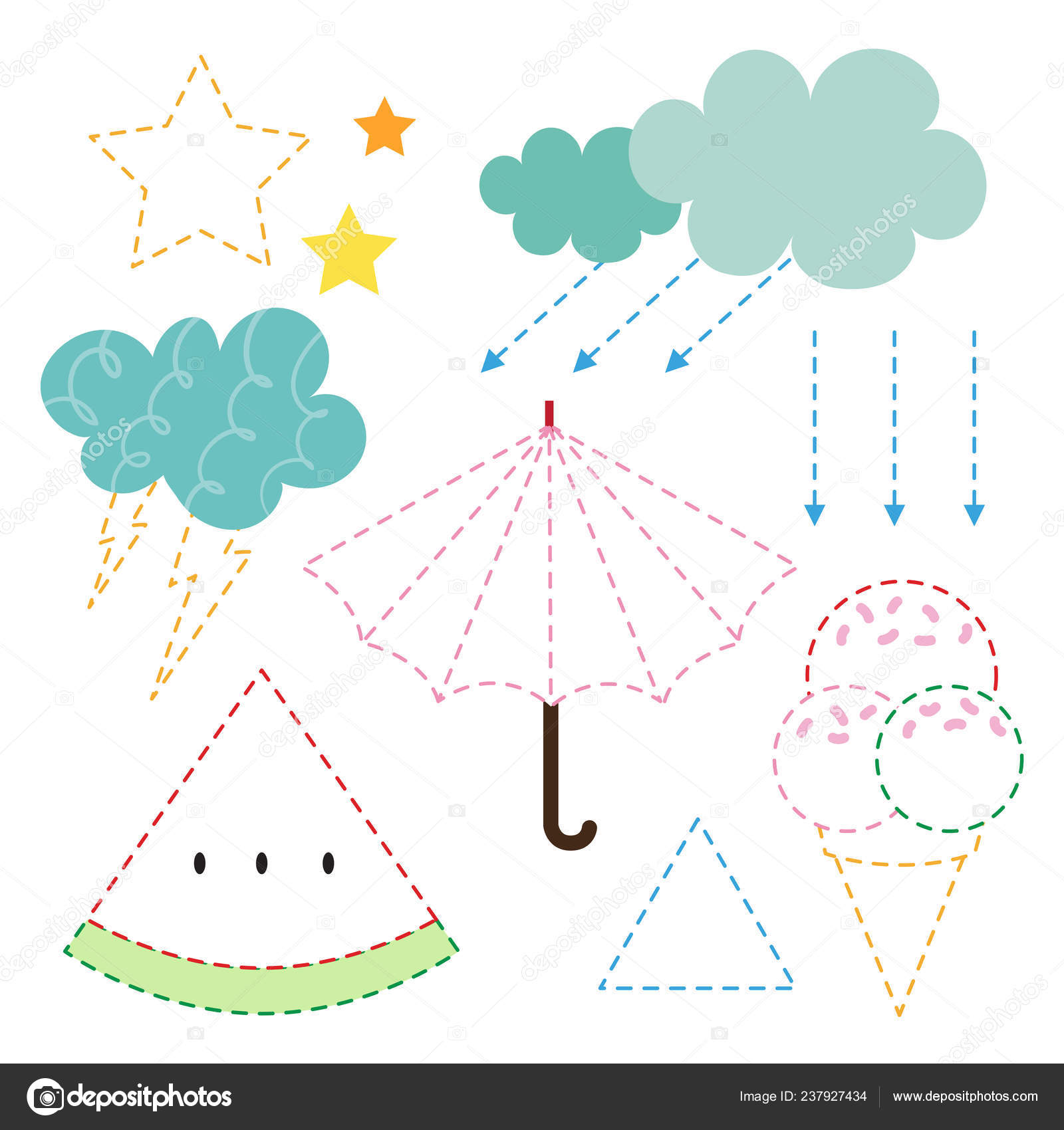 photo regarding Worksheet Design referred to as Weather conditions Worksheet Vector Layout Temperature Art Vector