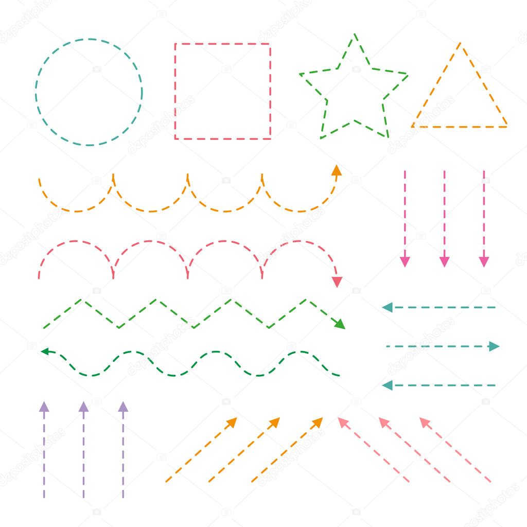 Geometry worksheet vector design, Geometry artwork vector design