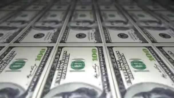 Tisk dolarů, close-up, finance