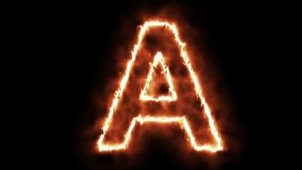 hot burning letter on green screen