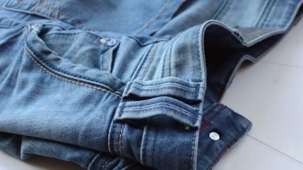Fondo De — Cerca Vídeo Detalle Mezclilla Azul Pantalones Textura xUpBBq