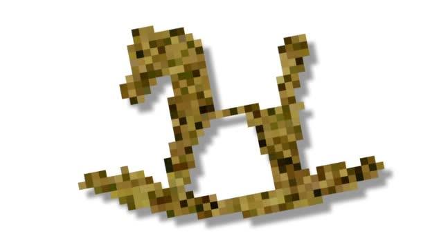 Shape morphing - dynamické voxely 3d vizualizace dítě hračku dřevěného koně