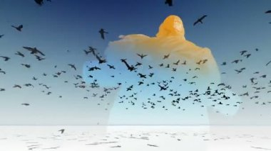 Flying bird animation Stock Videos, Royalty Free Flying bird