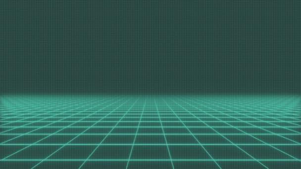 animace - letu nad mřížku Sci-Fi