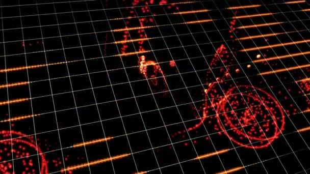 Holografické Tron mřížky podlahu pohybu grafický prvek