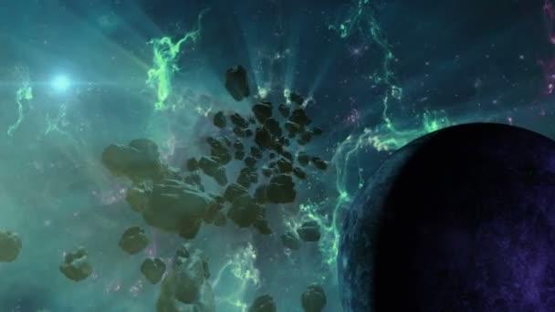 Mlhoviny a pole asteroidů v hlubokém vesmíru