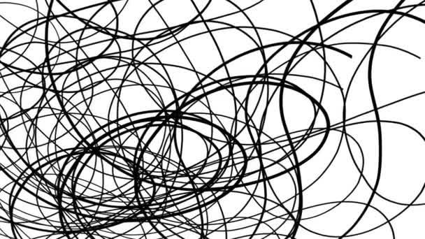 Forgatható fekete hullámos vonalak fekete-fehér háttér