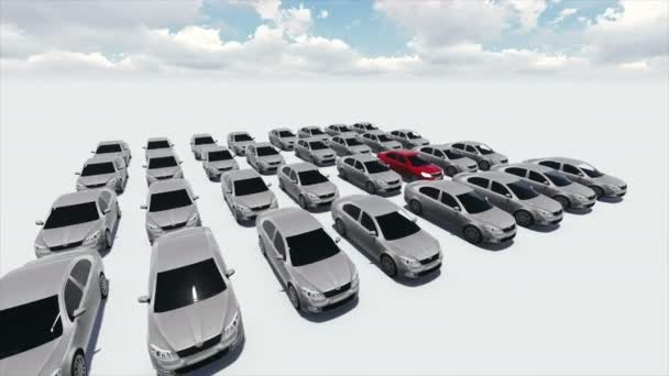 4k animation - Hundreds Of Cars, One Red