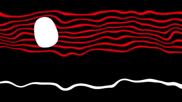animation - Minimal Motion Art of abstract waving lines on