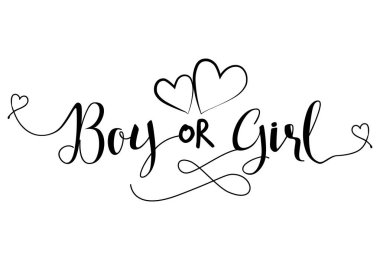Boy od Girl?' - Pregnant vector illustration. Typography illustration for pregnants.  Good for scrap booking, posters, greeting cards, banners, textiles, T-shirts, mugs or other gifts, baby clothes.