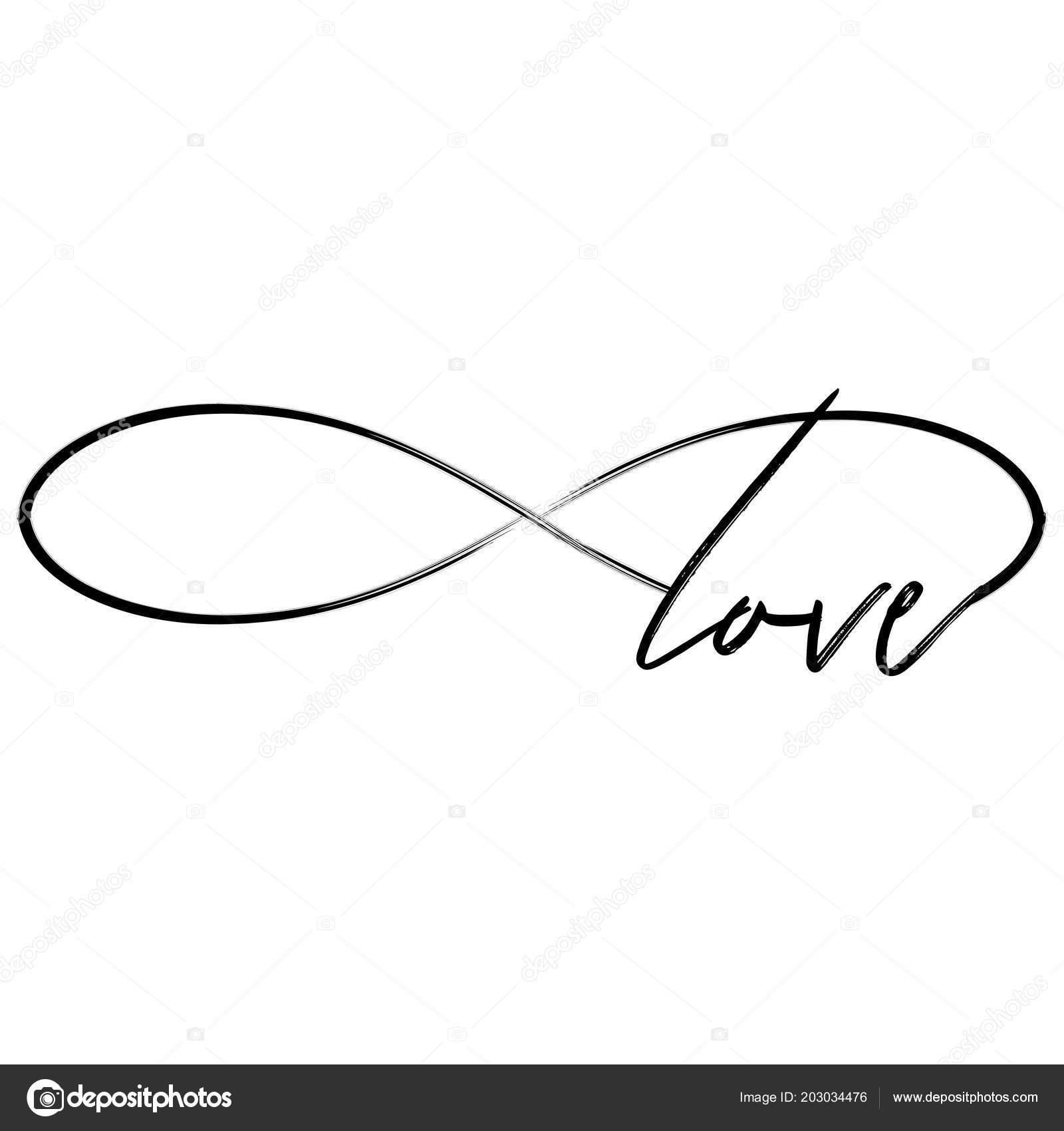 liebe der unendlichkeit form sch ne kalligraphie zitat schriftzug handgeschriebene tattoo. Black Bedroom Furniture Sets. Home Design Ideas