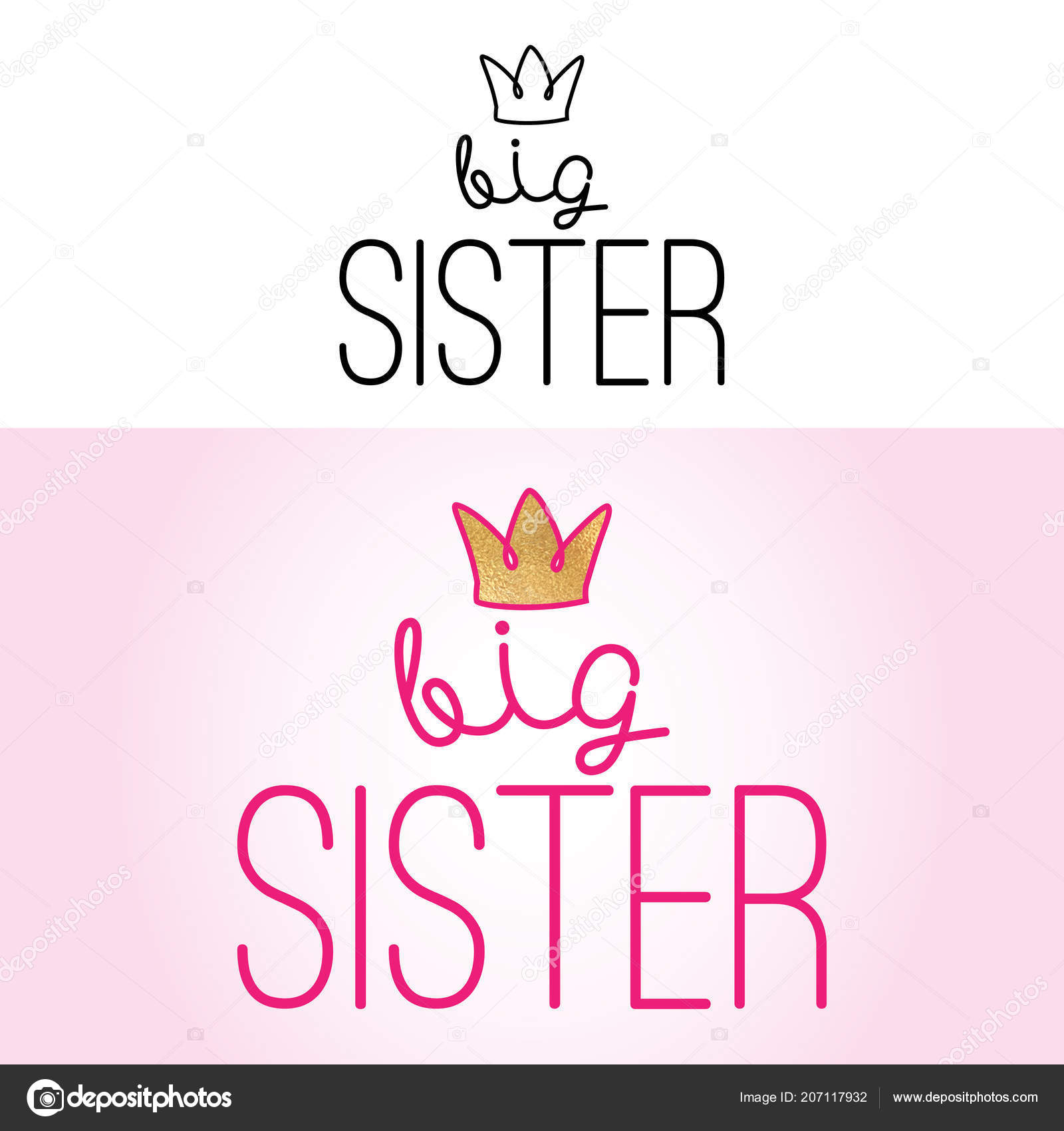 Images: sister quotes | Big Sister Handmade Calligraphy ...