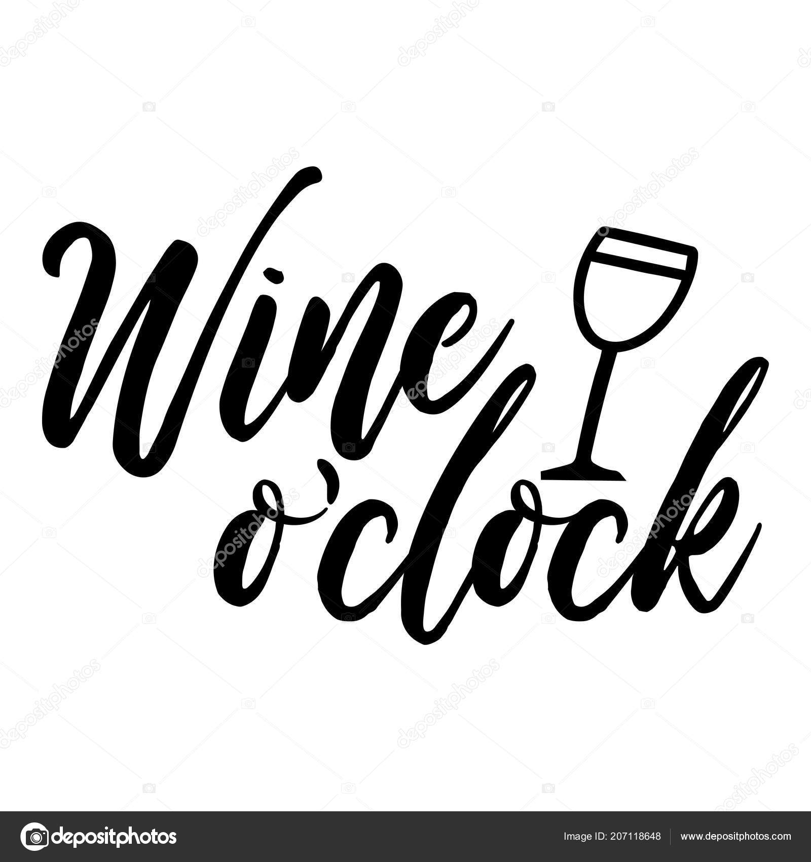 Restaurant Quotes Funny Wine Clock Funny Quote Posters Social Media Bar Restaurant Wall Stock Vector C Azindianlany 207118648
