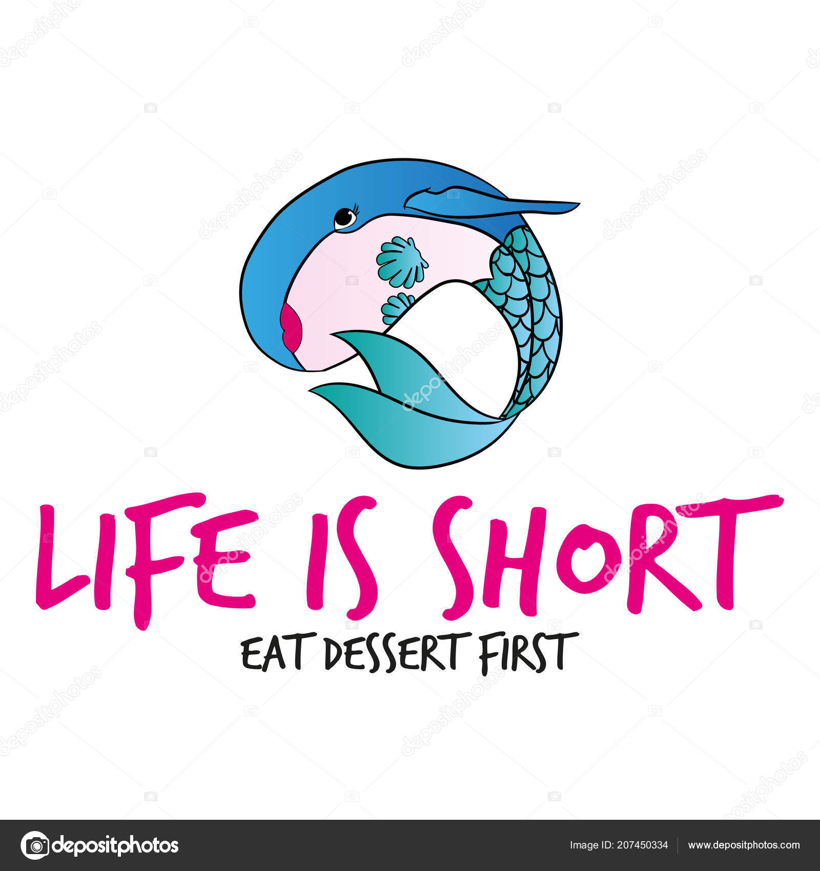 quotes about dessert life short eat dessert first funny vector