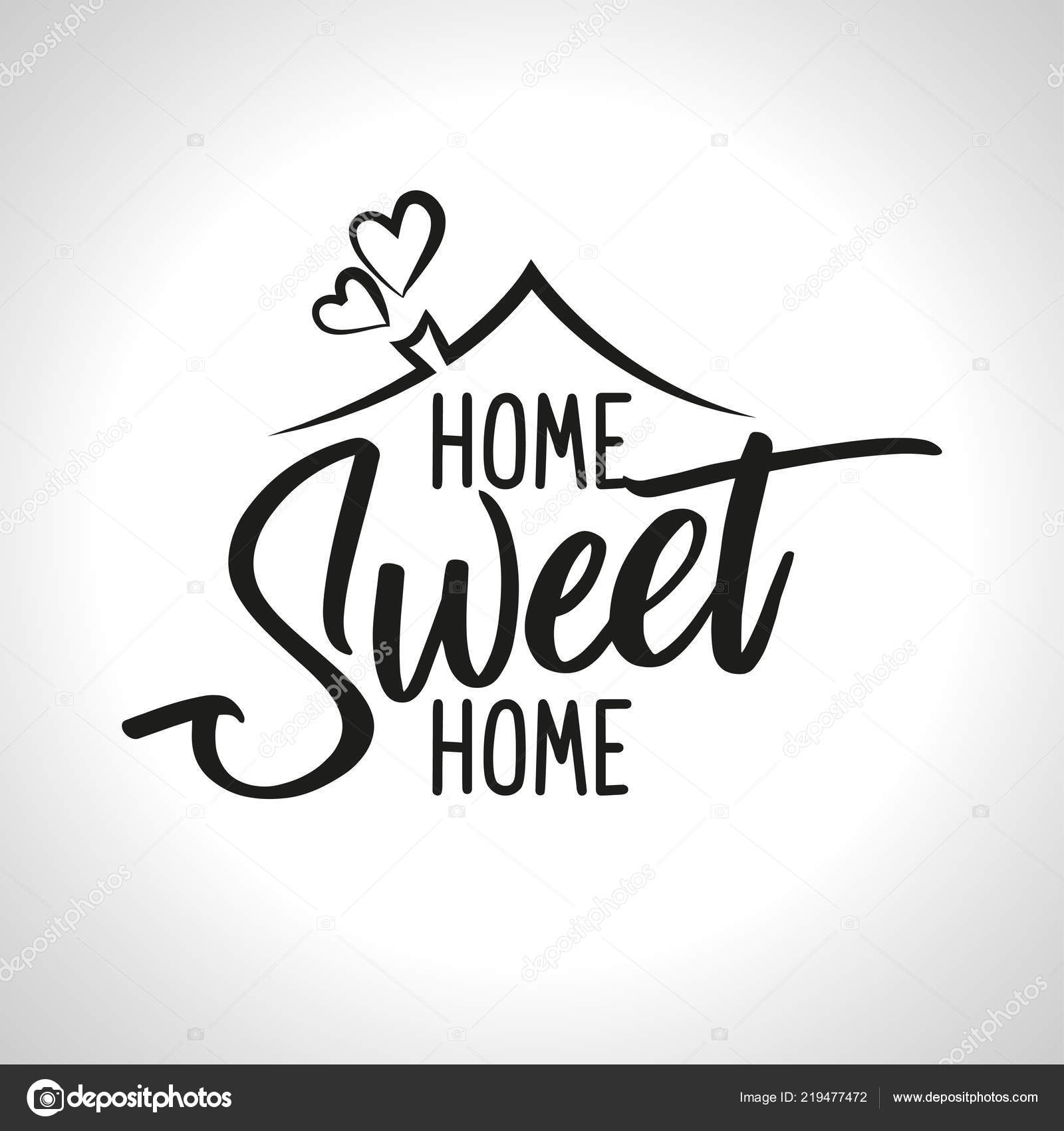 Home Sweet Home Typography Poster Handmade Lettering Print
