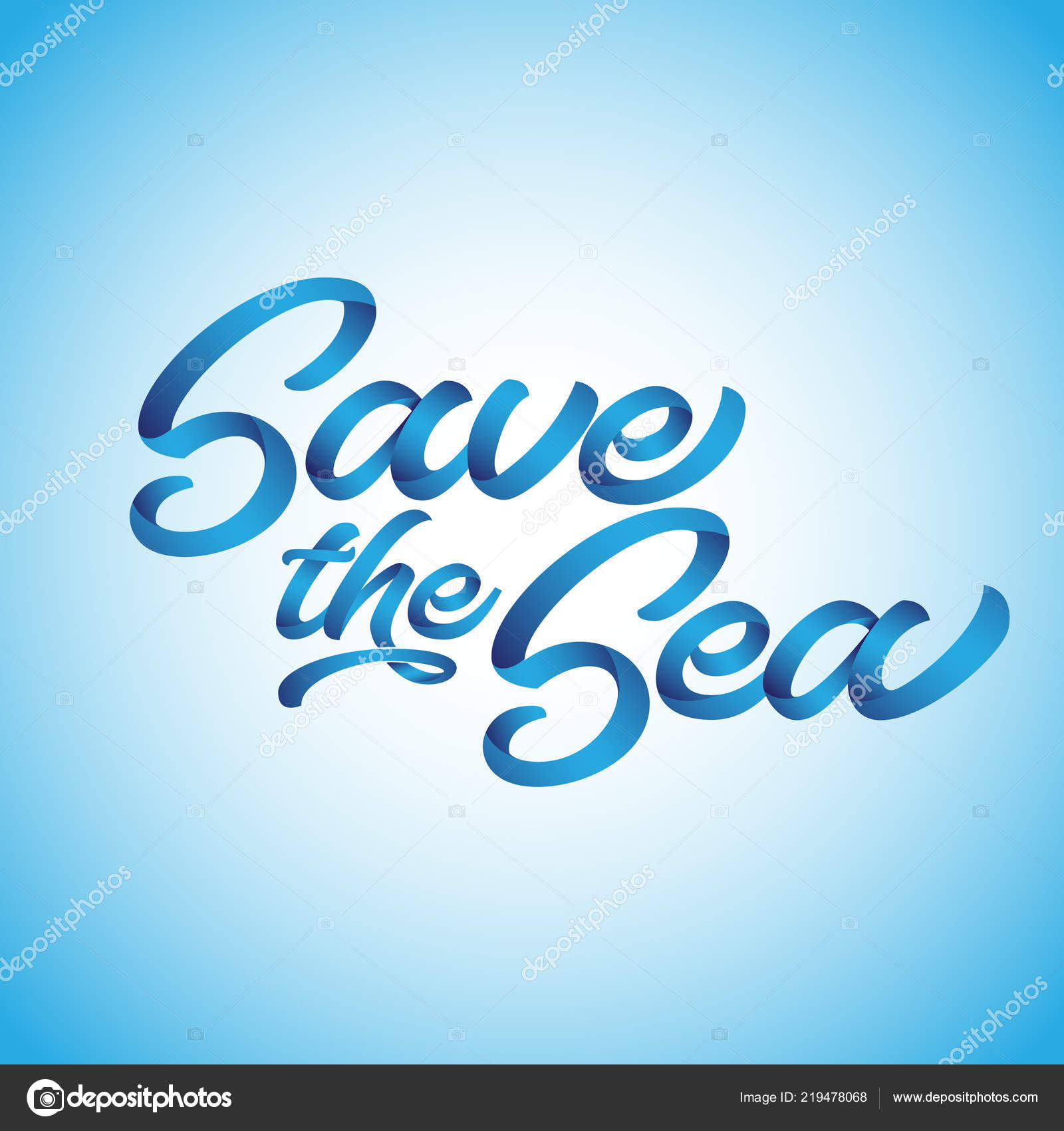 Sea Funny Vector Text Quotes Blue Background Lettering Poster