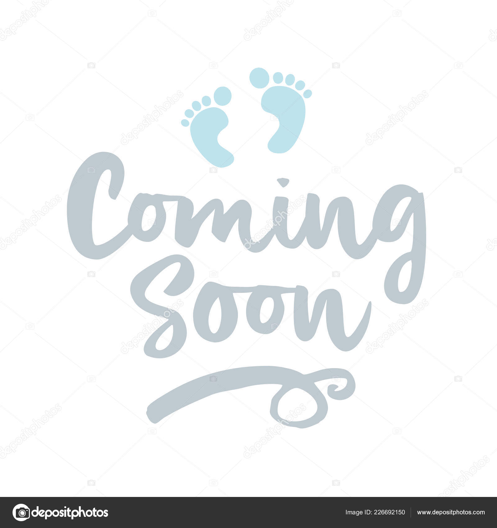 Baby Boy Coming Soon Quotes Coming Soon Boy Vector Illustration Baby Footprint Fun Quote Hipster Stock Vector C Azindianlany 226692150