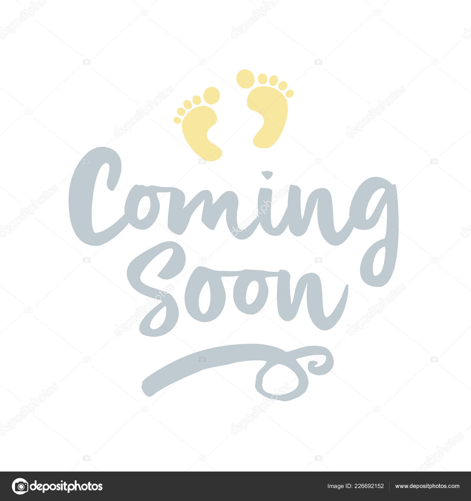 Baby Footprint Quote Coming Soon Vector Illustration Baby Footprint Fun Quote Hipster Design Stock Vector C Azindianlany 226692152
