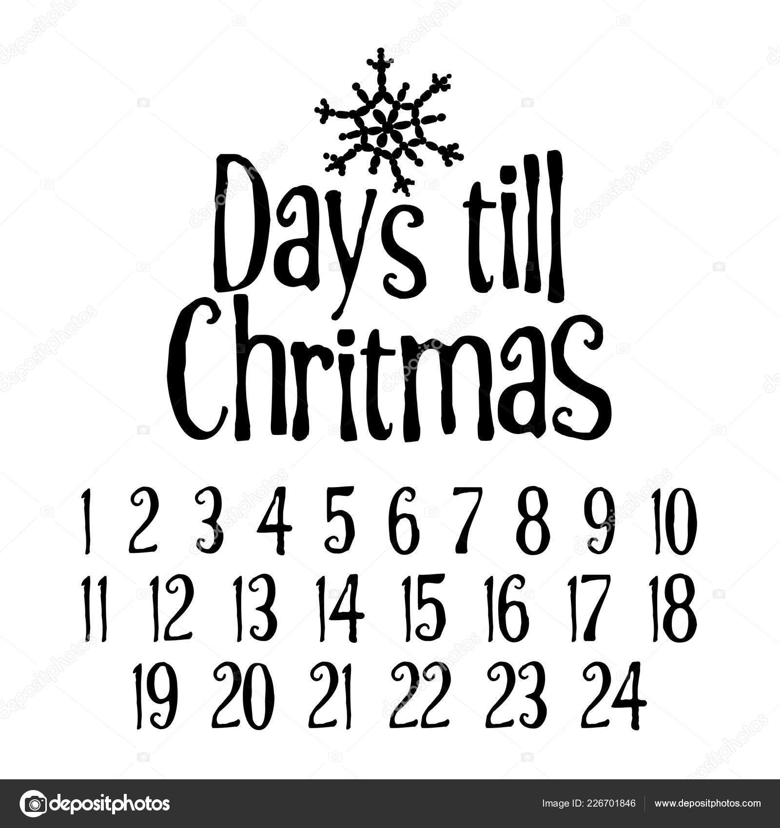 Días Hasta Navidad Cuenta Regresiva Feliz Navidad Adviento