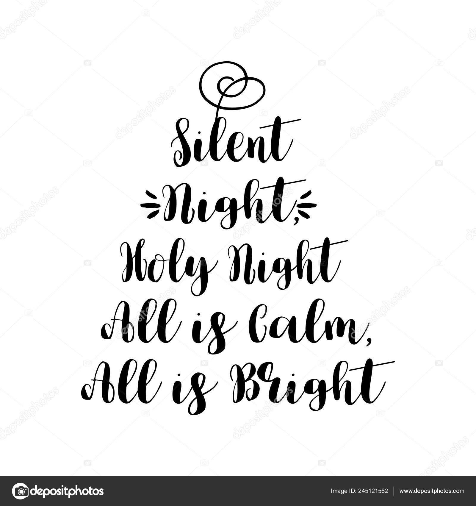 Noche Paz Santo Nightall Calma Todo Brillante Frase