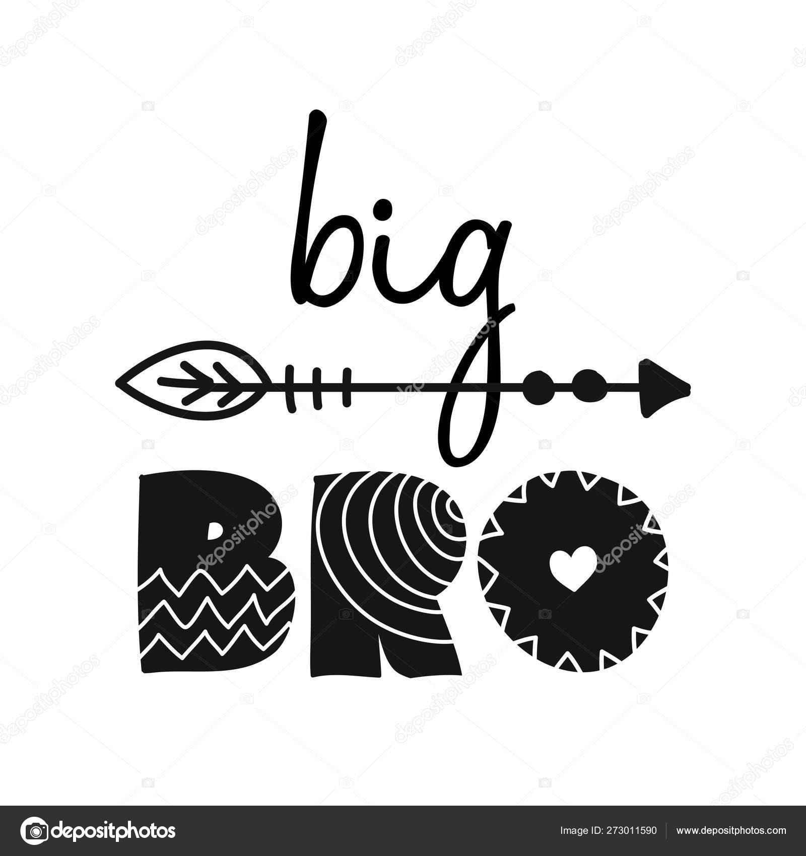Big Bro Big Brother Scandinavian Style Illustration Text ...